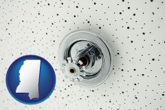 mississippi a fire sprinkler head mounted in an acoustic tile ceiling